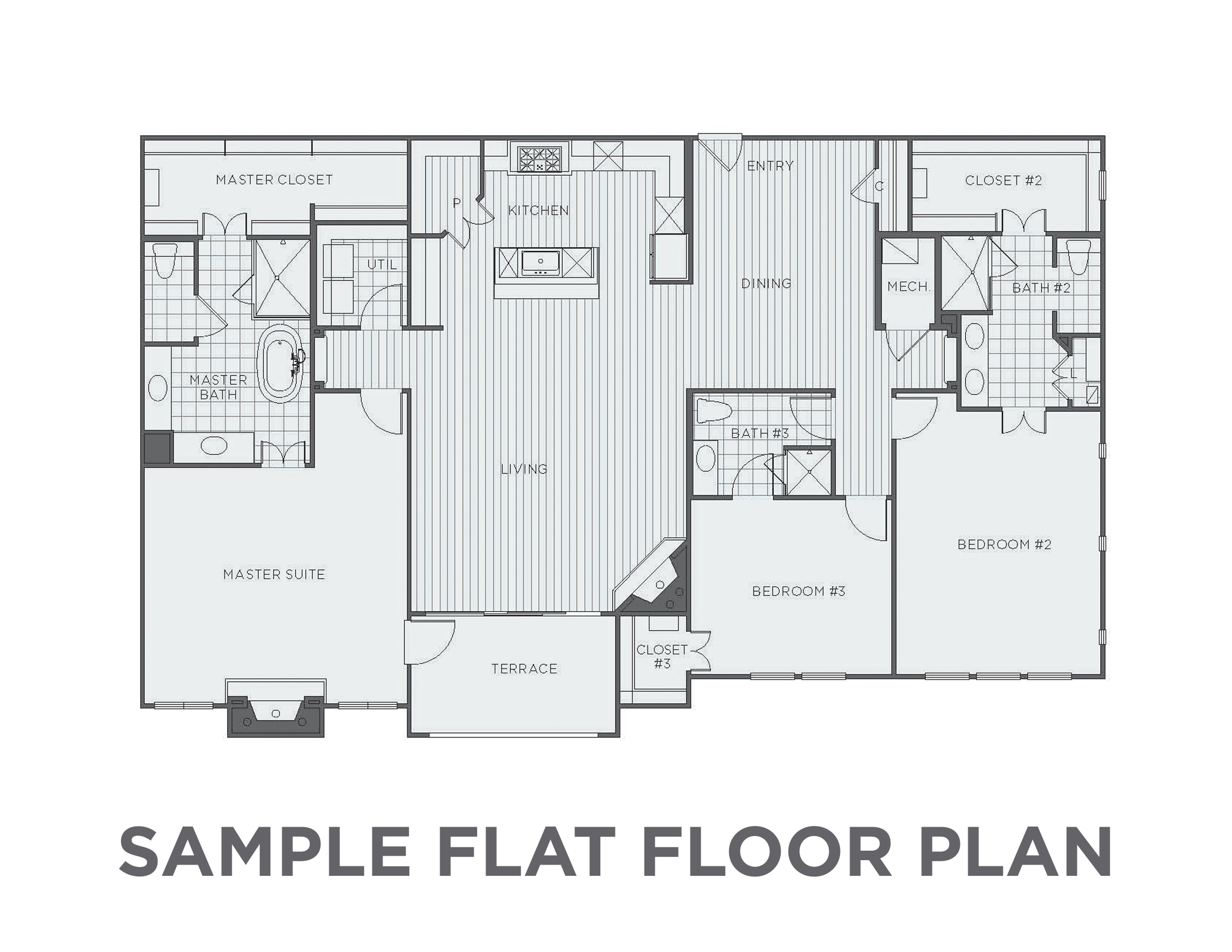 New construction floor plans for Sample home floor plans